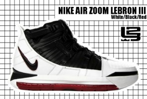 2005-06 Air Zoom Lebron III White:Black